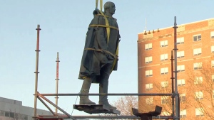 Extended: Cornwallis statute removed from park