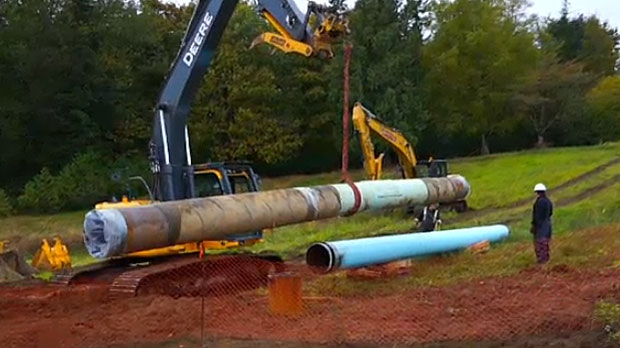 Controversial pipeline project in Canada put on hold