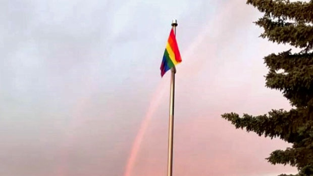 A pride flag, and its replacements, flew above Taber's Confederation Park during Pride Fest in 2017 but town council has denied the request of organizers for 2018