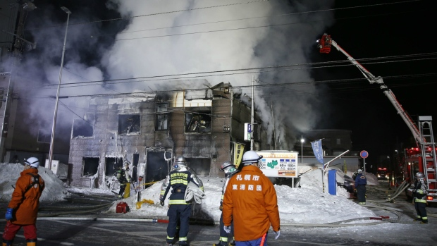 Fire at Japanese seniors home