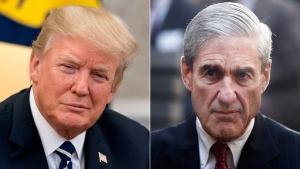 U.S. President Donald Trump, left, and special counsel Robert Mueller are seen in this composite image. (Andrew Harnik / Charles Dharapak / AP)