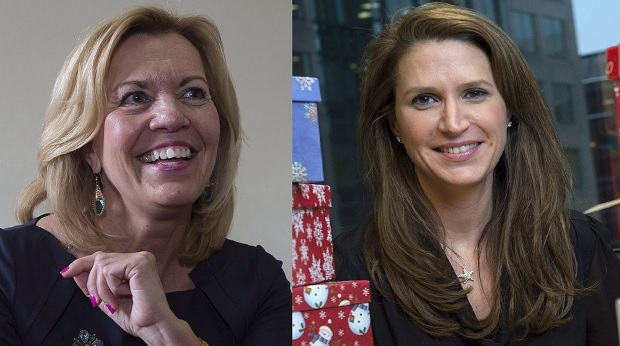 Christine Elliott (left) and Caroline Mulroney (right) are seen in this composite image. (THE CANADIAN PRESS/Justin Tang and Chris Young)