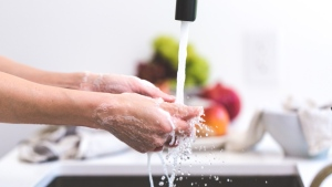 An undated image of someone washing their hands. (Burst/Pexels)