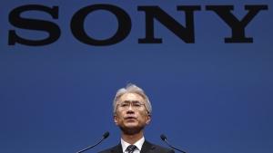 Sony Corp. President Kenichiro Yoshida at the company's headquarters in Tokyo, on Feb. 2, 2018. (Eugene Hoshiko / AP)