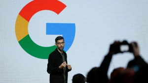 In this Tuesday, Oct. 4, 2016, file photo, Google CEO Sundar Pichai speaks during a product event in San Francisco. Pichai has declared artificial intelligence more important to humanity than fire or electricity. (AP / Eric Risberg, File)