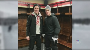 Sidney Crosby skated with a 19-year-old early rise