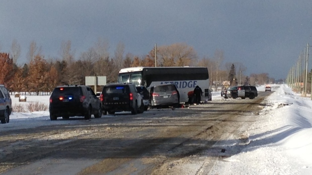 Eight seriously injured after bus, van collide amid squalls