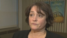 NSTU president Liette Doucet says she's not happy with recent developments related to a report by education consultant Avis Glaze.