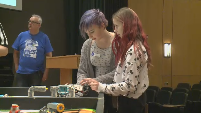 Students compete at FIRST LEGO League Sask. provincial championship.