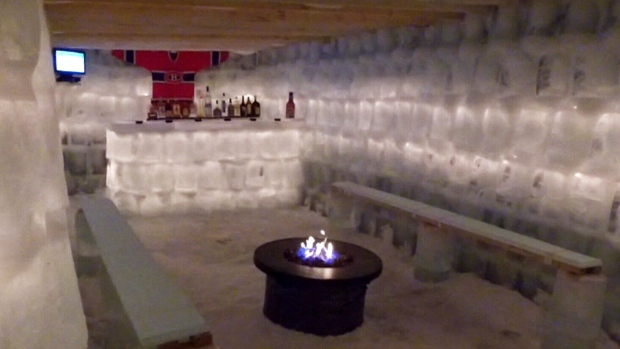 Man Cave Stores In Ontario : Ultimate super bowl venue quebec man builds backyard cave