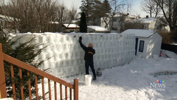 Man Cave Barrie : Ultimate super bowl venue quebec man builds backyard