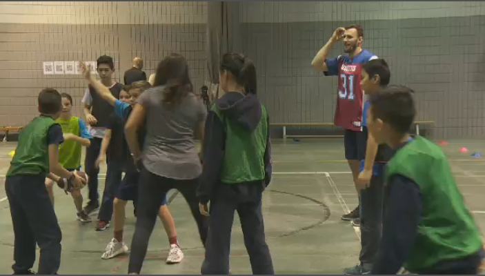This week, the Alouettes launched their Ultimate Football Tour, where the team will visit schools and YMCAs across Quebec promoting a non-contact brand of football for kids. (CTV Montreal)
