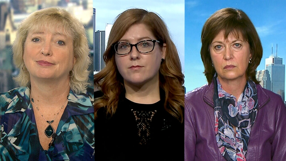 Conservative MP Marilyn Gladu, NDP MP Tracey Ramsey, and Liberal MP Pam Damoff on CTV's Question Period.