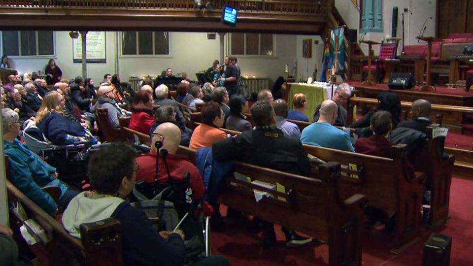 A candlelight vigil will be held at the Metropolitan Community Church in Toronto's east end, which was an early adopter of same-sex marriage ceremonies.