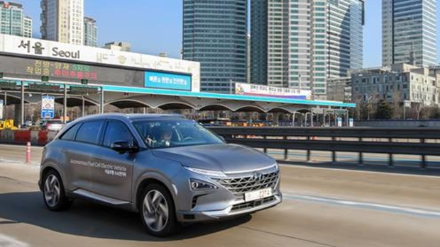 Hyundai showcases world's first hydrogen level four autonomous auto