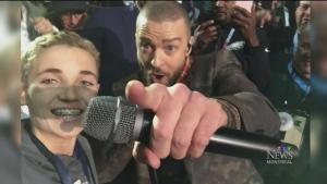 JT selfie at Super Bowl