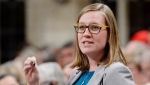 Minister of Democratic Institutions Karina Gould rises during question period in the House of Commons in Ottawa on Wednesday, Jan. 31, 2017. THE CANADIAN PRESS/Adrian Wyld