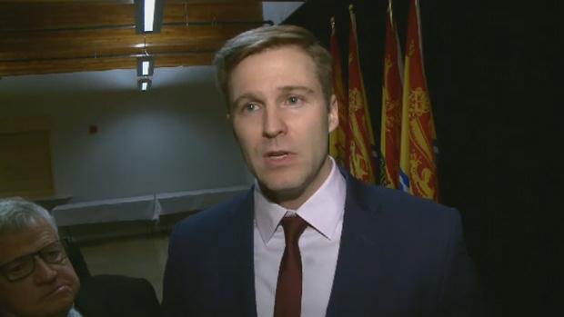 New Brunswick Premier Brian Gallant speaks to the media on Monday, Feb. 5, 2018.