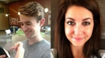 Kalen Schlatter, 21, and Tess Richey, 22, appear in separate undated photos obtained from Facebook. On Feb. 5, 2018, Toronto police charged Schlatter in connection with Tess Richey's death.