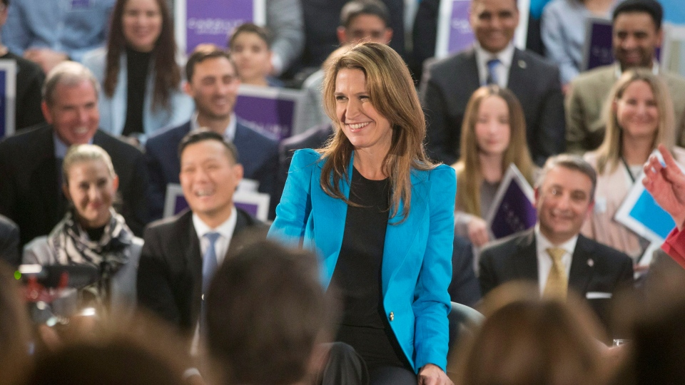 Ontario Progressive Conservative Party Leadership candidate Caroline Mulroney appears at a event in Toronto on Monday, February 5, 2018. (THE CANADIAN PRESS/Chris Young)