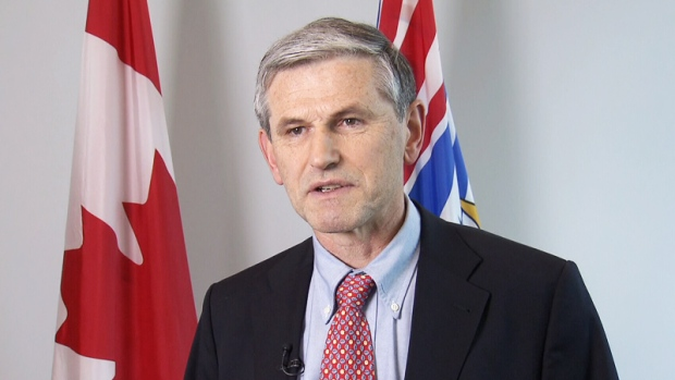 BC Liberal leader Andrew Wilkinson speaks to reporters on Monday, Feb. 5, 2018.