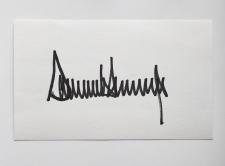 Trump's signature