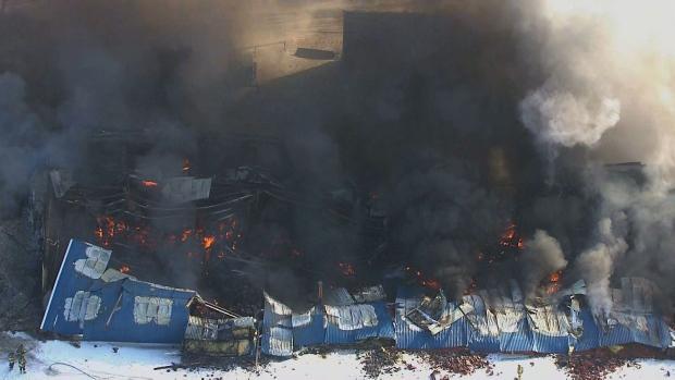 Fire Completely Destroys Vinyl Siding Factory In Port