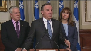 CAQ leader Francois Legault is excited about a new poll but said he is not taking support for granted (Feb. 6, 2018)