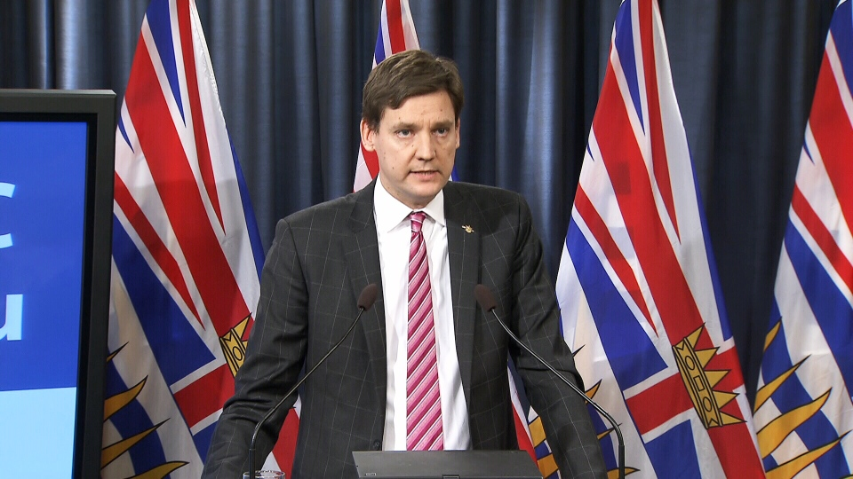 Attorney General David Eby speaks at a press conference in Victoria, B.C. on Tuesday, Feb. 6, 2018.
