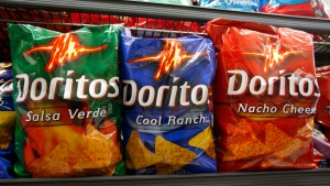 Doritos chips are shown on display at a grocery store in Palo Alto, Calif., Wednesday, Oct. 6, 2010. THE CANADIAN PRESS/AP-/Paul Sakuma