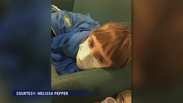 Melissa Pepper says she was surprised to learn her daughter Kayelyn contracted scarlet fever.