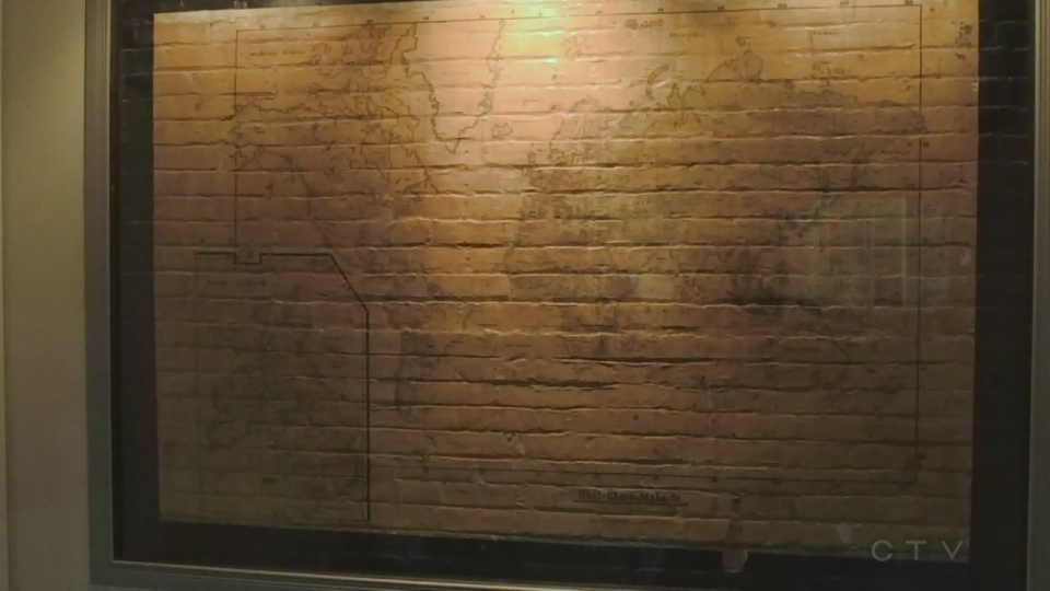 A map drawn on an Espanola wall by POW in WWII