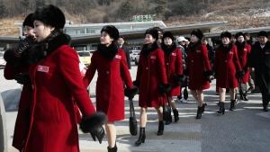 North Korea cheerleaders