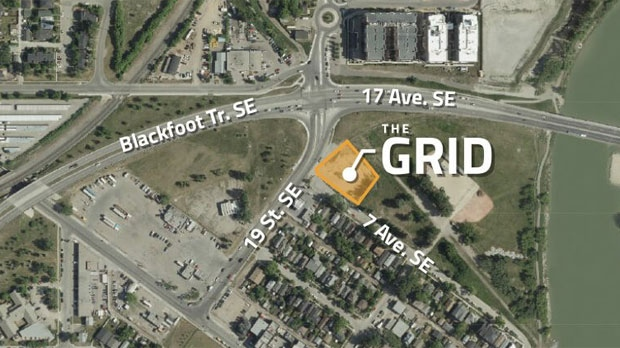 The Grid highrise - proposed location