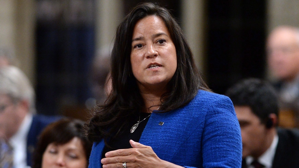 Minister of Justice and Attorney General of Canada Jody Wilson-Raybould rises during Question Period in the House of Commons on Parliament Hill in Ottawa on Thursday, Feb. 8, 2018. (THE CANADIAN PRESS / Justin Tang)
