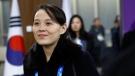Kim Yo Jong, sister of North Korean leader Kim Jong Un, arrives at the opening ceremony of the 2018 Winter Olympics in Pyeongchang, South Korea, Friday, Feb. 9, 2018. (AP Photo/Patrick Semansky, Pool)