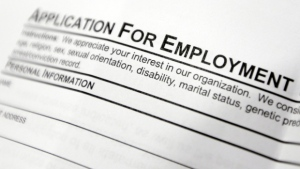 A job application is seen in this file image.