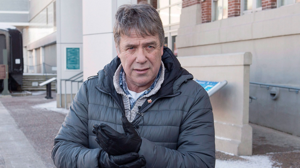 Former federal MP Peter Stoffer talks to reporters to address sexual harassment allegations in Halifax on Friday, Feb. 9, 2018. Stoffer denied the claims but apologized for actions that might have been interpreted as inappropriate. THE CANADIAN PRESS/Andrew Vaughan