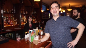 Tim Gray poses at Wee Johnny's in Winnipeg