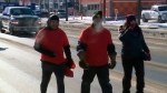 Braving the cold: A walk for new MMIW inquiry stop