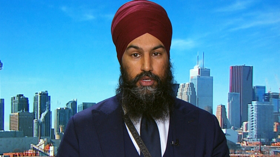 NDP Leader Jagmeet Singh on CTV's Question Period.