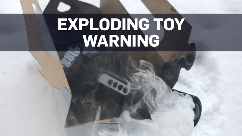 Mom 'shocked' after young son's toy apparently explodes