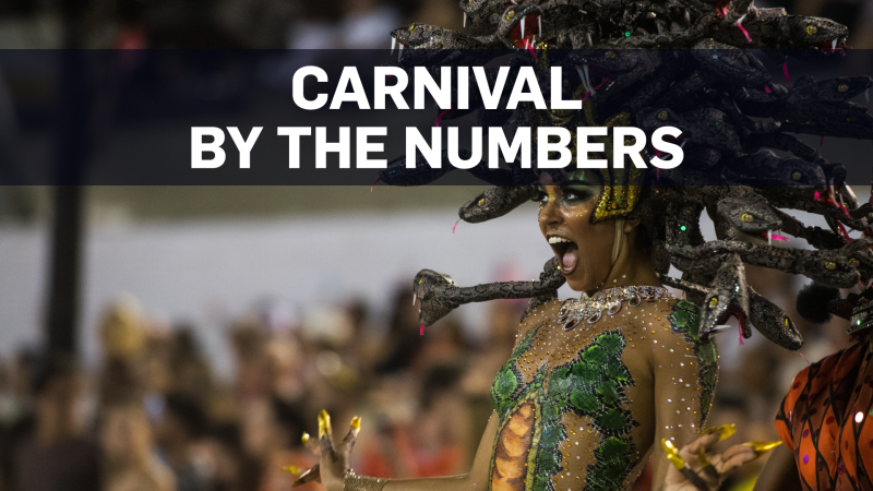 Mass amounts of tourists, beer and condoms for Carnival