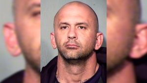 This Friday, Feb. 9, 2018 booking photo released by the Maricopa County Sheriff's Office shows suspect Ryan Donahue at the Maricopa County jail in Phoenix, Ariz.(Maricopa County Sheriff's Office via AP)
