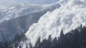 B.C. releases footage of massive controlled avalanche