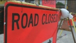 A one-block stretch of Portage Avenue will be closed to eastbound traffic for about a month. File image.
