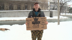 Veteran camping out to raise awareness about homelessness among veterans
