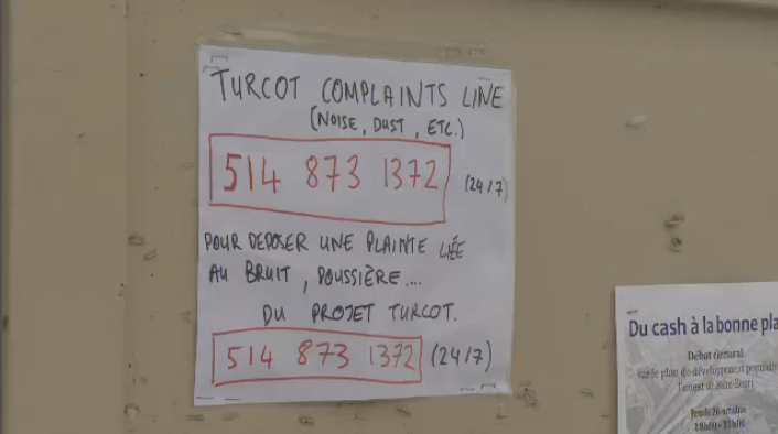 Some Saint-Henri residents, while acknowledging that a project of this scale will no doubt be noisy, said that this weekend's activities crossed a line. (CTV Montreal)
