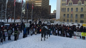 Rally to support Colten Boushie's family takes place in Calgary