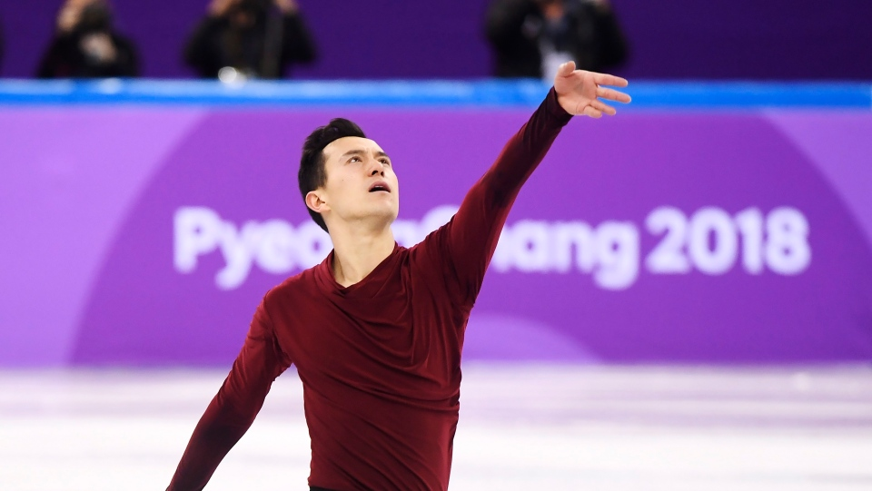 Patrick Chan of Canada performs during the men's free program in the team figure skating event at the Pyeonchang Winter Olympics on Feb. 12, 2018 in Gangneung, South Korea. THE CANADIAN PRESS/Paul Chiasson